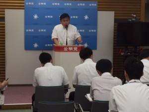 7月31日党本部講演会