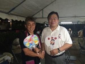 8月1日有野町地区合同夏祭り (2)