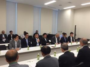8月18日全日本不動産政治連盟意見交換会