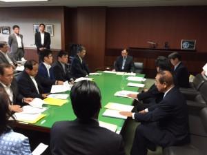 9月14日 兵庫県議団 太田大臣申し入れ