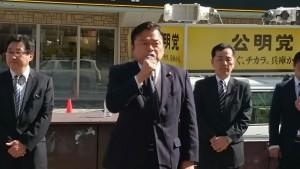 JR垂水駅前街頭演説1