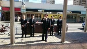 JR垂水駅前街頭演説2