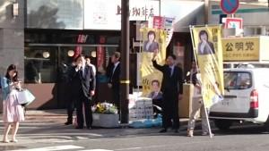 JR元町駅前街頭