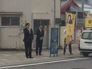 5月1日 阪神御影駅前 1