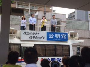 6月26日 新長田駅街頭 2