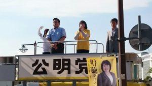 6月18日 西神中央駅前街頭 2